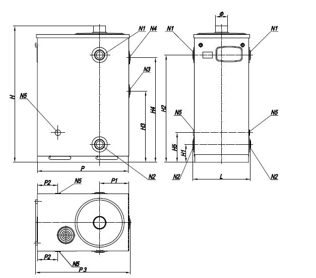sizes of floor based low powered boiler