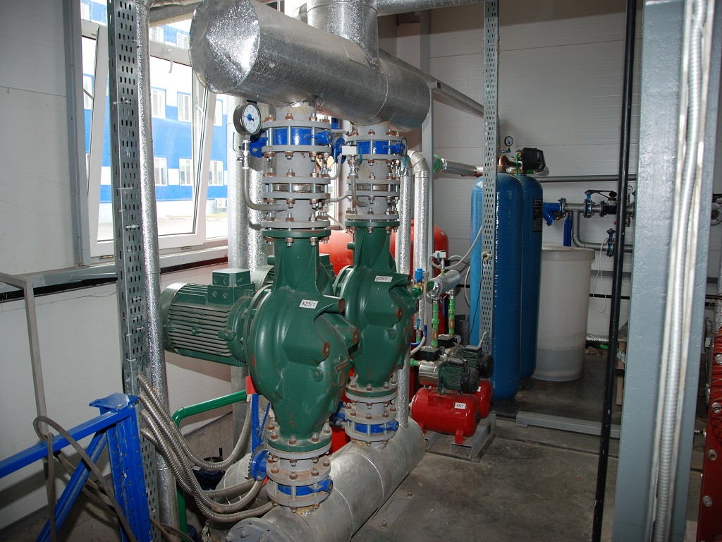 Industrial pumps inside MBR